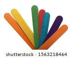 colorful wooden spatulas ...   Shutterstock . vector #1563218464