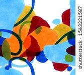 stylish texture in modern art... | Shutterstock . vector #1563221587