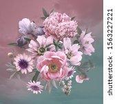 floral template. beautiful... | Shutterstock . vector #1563227221