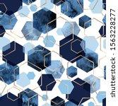 vector seamless geometric... | Shutterstock .eps vector #1563228277