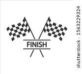 race flag icon  simple design... | Shutterstock .eps vector #1563229324