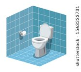 washroom interior with toilet... | Shutterstock .eps vector #1563233731