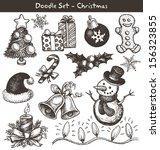 christmas doodles | Shutterstock .eps vector #156323855