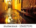 illuminated street in old part...   Shutterstock . vector #156327191