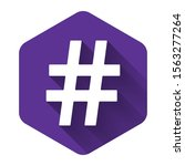 white hashtag icon isolated...