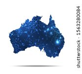 vector map of australia with... | Shutterstock .eps vector #1563280084