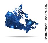 vector map of canada with... | Shutterstock .eps vector #1563280087