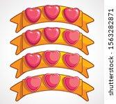 cool cartoon glassy pink hearts ...