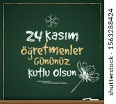 turkish holiday  november 24...   Shutterstock .eps vector #1563288424