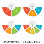 set of infographic semicircle... | Shutterstock .eps vector #1563301411