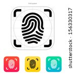 scanning finger icon. vector...