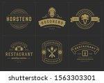 restaurant logos templates set... | Shutterstock .eps vector #1563303301