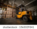 Warehouse Man Worker With...
