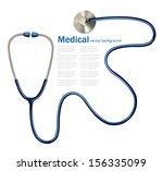 stethoscope. vector | Shutterstock .eps vector #156335099