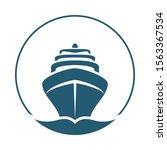 sea ship graphic icon. cruise... | Shutterstock .eps vector #1563367534