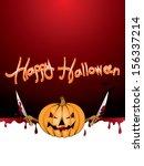 halloween background  also... | Shutterstock .eps vector #156337214