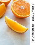 Close Up Slice Of Orange On...