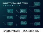 hud futuristic style callout... | Shutterstock .eps vector #1563386437