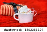 christmas cocoa with... | Shutterstock . vector #1563388324