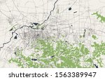 vector map of the city of jinan ... | Shutterstock .eps vector #1563389947