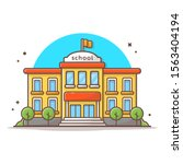 school building vector icon... | Shutterstock .eps vector #1563404194