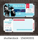 ... Vector Ticket Wedding Invitation Design Template · Red Concert ...