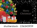 decorated christmas tree on...   Shutterstock . vector #156345959