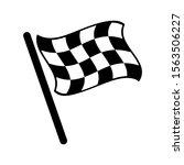 start icon. race flag icon.... | Shutterstock .eps vector #1563506227