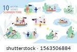 family summer time scenes ... | Shutterstock .eps vector #1563506884