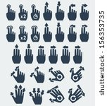 vector touch screen gestures... | Shutterstock .eps vector #156353735