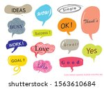 hand drawn set of colorful... | Shutterstock .eps vector #1563610684