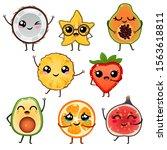 illustration of funny cartoon... | Shutterstock .eps vector #1563618811