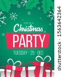 christmas party color green... | Shutterstock .eps vector #1563642364