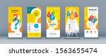 business roll up set. standee...   Shutterstock .eps vector #1563655474