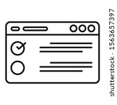 web checklist icon. outline web ...