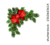 christmas corner decoration... | Shutterstock .eps vector #1563665614