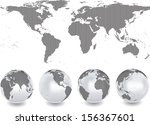 abstract globes with abstract... | Shutterstock .eps vector #156367601