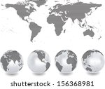 abstract globes with abstract... | Shutterstock .eps vector #156368981