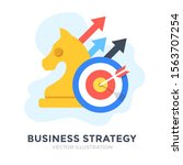 business strategy. flat design. ... | Shutterstock .eps vector #1563707254
