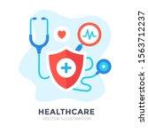 healthcare. flat design....   Shutterstock .eps vector #1563712237