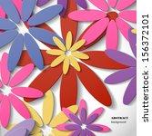 flower background  | Shutterstock .eps vector #156372101