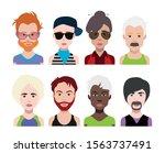 people avatars  vector women ... | Shutterstock .eps vector #1563737491