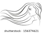 fashion beautiful woman with...   Shutterstock .eps vector #156374621
