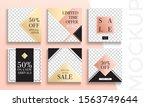 sale banner layout design. set... | Shutterstock .eps vector #1563749644