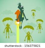 career growth. illustration on...   Shutterstock . vector #156375821