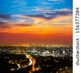 Downtown La Night Los Angeles...