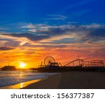 Santa Monica California Sunset...