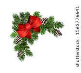 christmas corner decoration... | Shutterstock .eps vector #1563776641