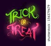 trick or treat halloween poster ... | Shutterstock .eps vector #156379679