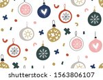Seamless Pattern With  Hristmas ...